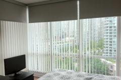 Blackout Rollers over Vertical Blinds