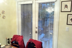 Faux Wood over French Doors