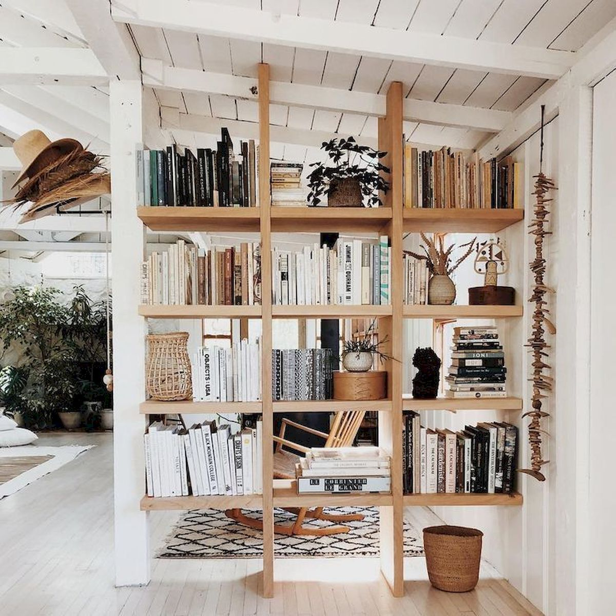 Separate room by bookcase