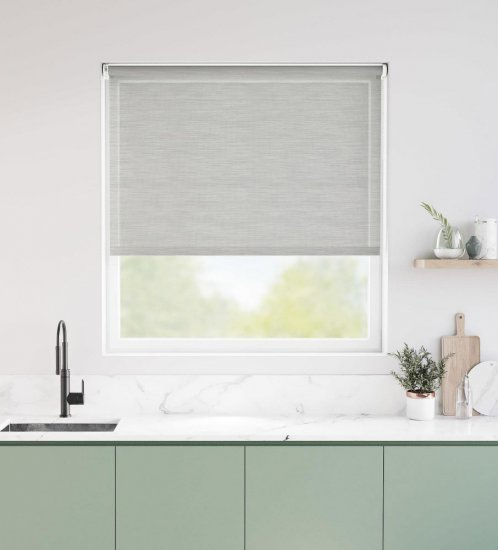 Roller shades is another option for decorating your kitchen windows
