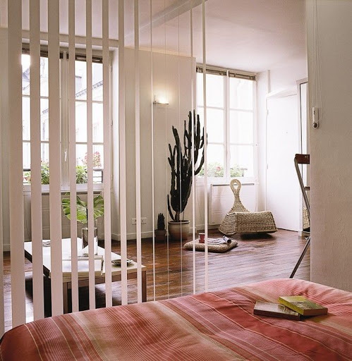 Faux wood vertical blinds for room dividers