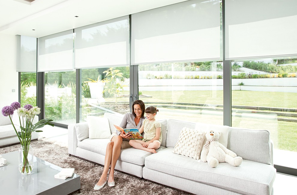 Different types of motorized blinds and shades